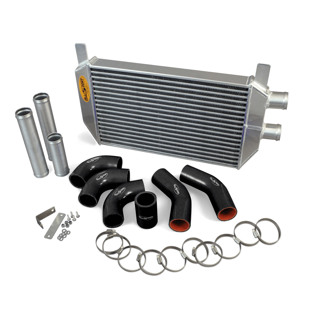 Discovery 300 Tdi uprated intercooler (AIR CON Manual Gearbox) - black hoses